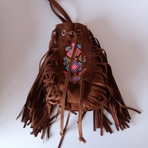 Crossbody Pouch Bag with Fringes